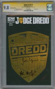 Judge Dredd #1 Subscription Variant CGC 9.8 Signature Series Signed John Wagner Alan Grant IDW comic book